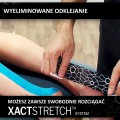 Taśma do kinesiotapingu TheraBand XactStretch 12923 czarno-szara - technologia XactStretch