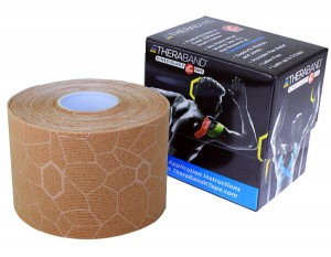 Thera-Band XactStretch 12928 taśma do kinesiotapingu 5cm rolka 5m beżowo-beżowa