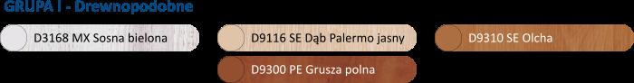 Kolory blatów laminowanych stolików przyłóżkowych ZTM Tech-Med Bydgoszcz | sklep medyczny EpicMED
